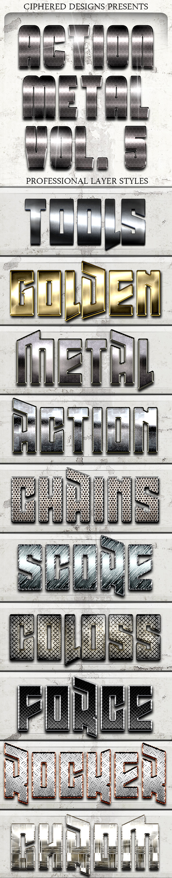 GraphicRiver Action Metal 05 Text Effects 9953614