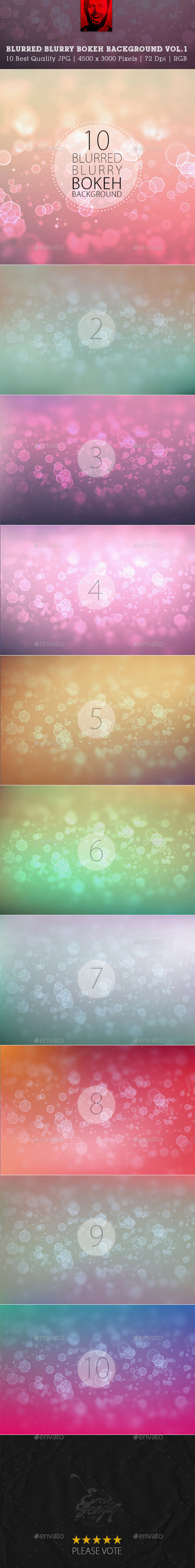 GraphicRiver Blurred Blurry Blur Bokeh Backgrounds Vol.1 9953615