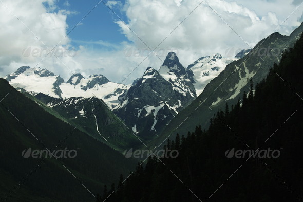 Caucasus mountains - Stock Photo - Images