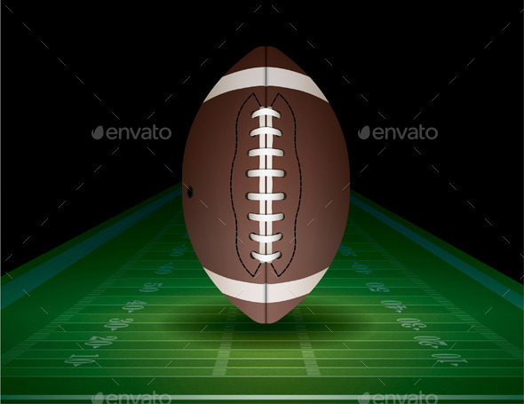 GraphicRiver American Football and Field Illustration 9953716