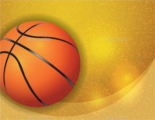 GraphicRiver Basketball on Background Illustration 9953735