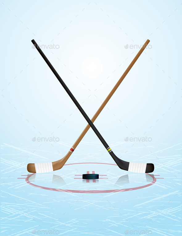 GraphicRiver Ice Hockey Illustration 9953745