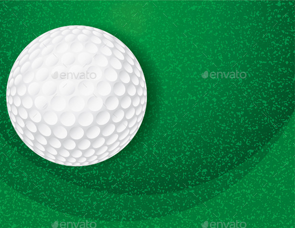 GraphicRiver Golf Ball on Textured Green Illustration 9953746
