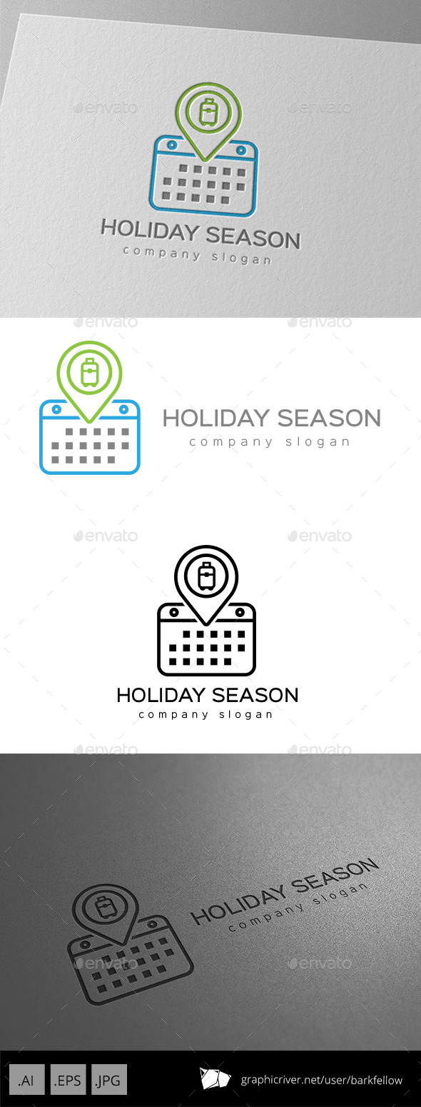 GraphicRiver Holiday Season Calendar Logo 9953770