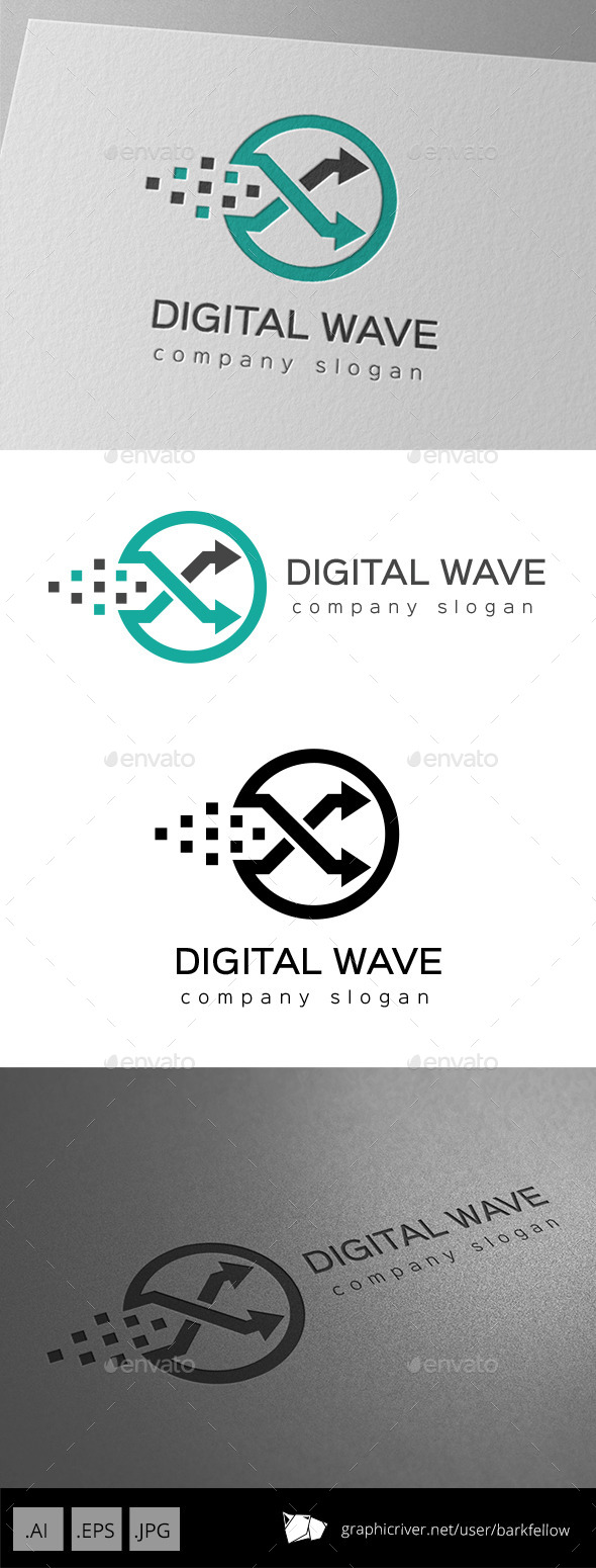 GraphicRiver Circle Digital Arrow Logo 9953772