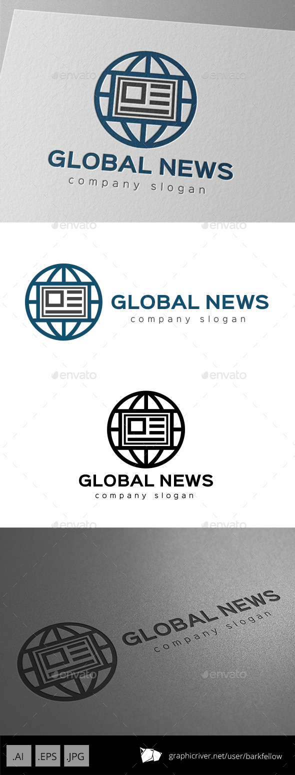 GraphicRiver World Global News Logo 9953779