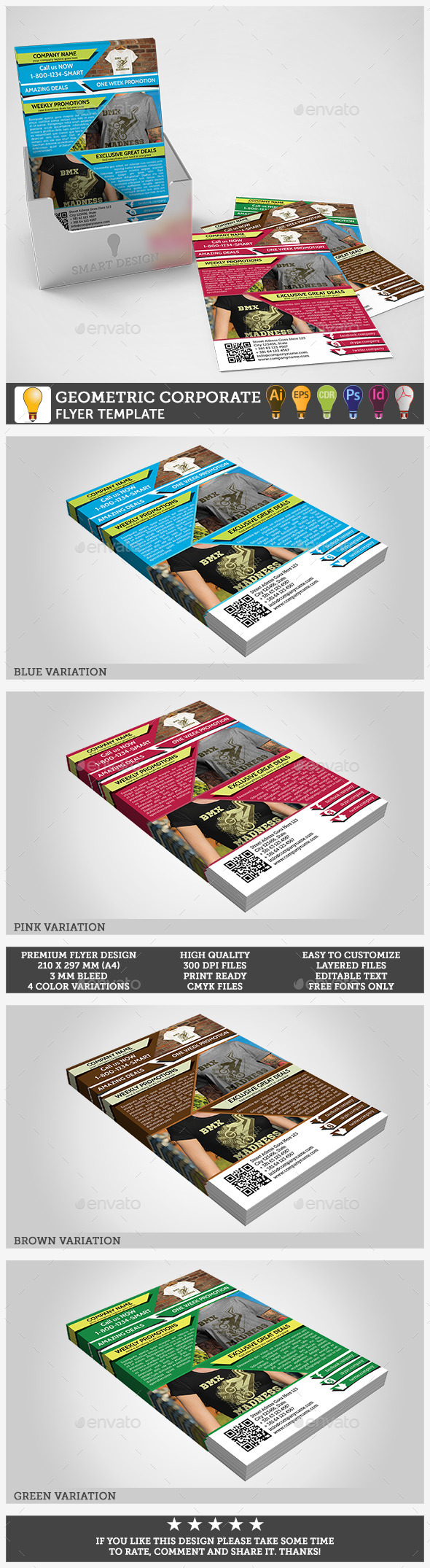 Corporate Business Flyer Geometric Template - Corporate Flyers