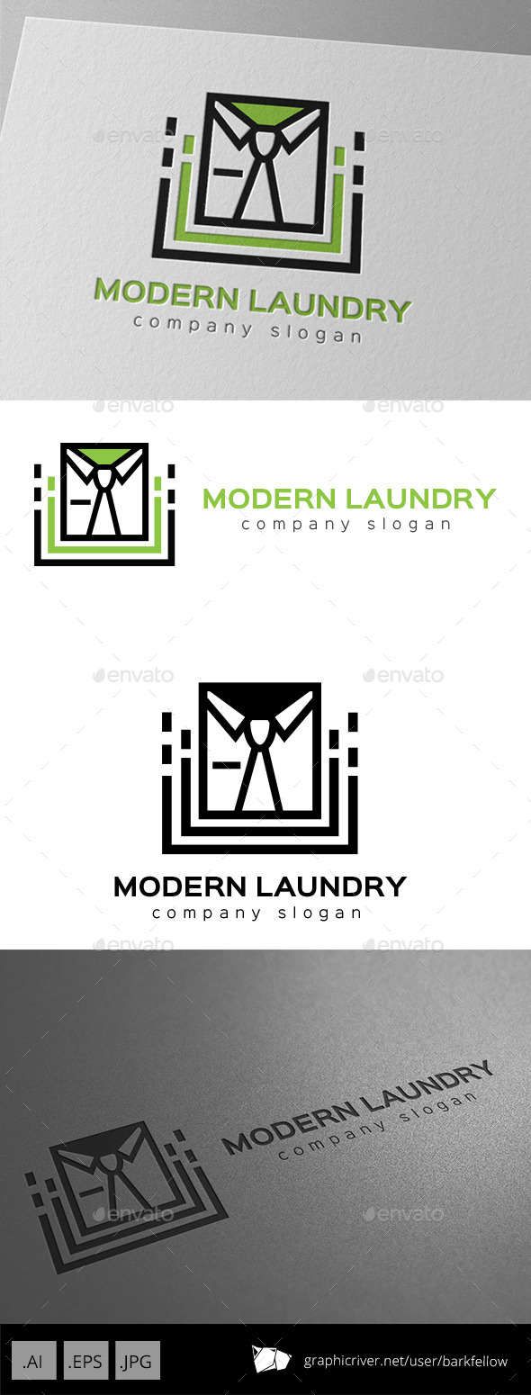 GraphicRiver Modern Laundry Logo 9953799