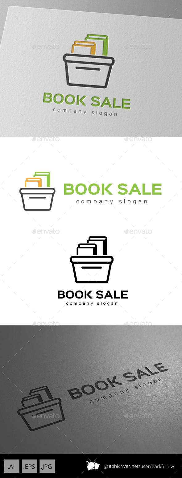 GraphicRiver Book Sale Logo 9953801