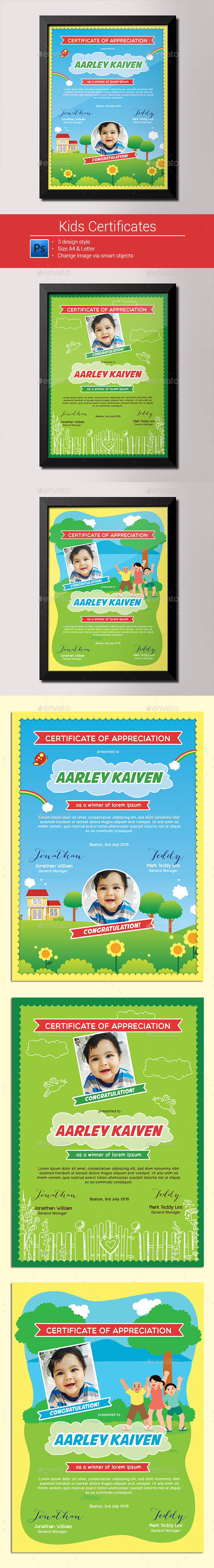 GraphicRiver Kids Certificates 9953804