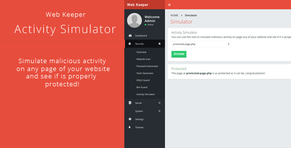 Web Keeper Activity Simulator Plugin