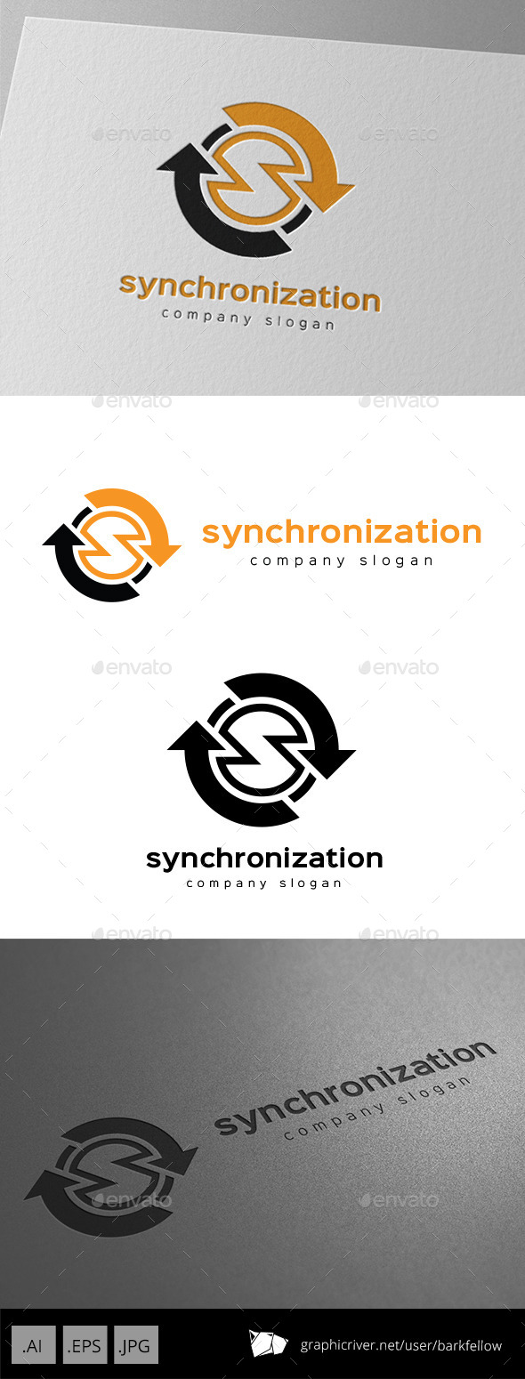 GraphicRiver Synchronization Data Logo Letter S 9953866