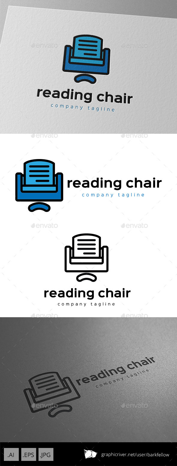 GraphicRiver Reading Chair Logo 9953873