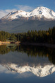 Mt Shasta Reflection Mountain Lake Modest Bridge California Recreation - PhotoDune Item for Sale