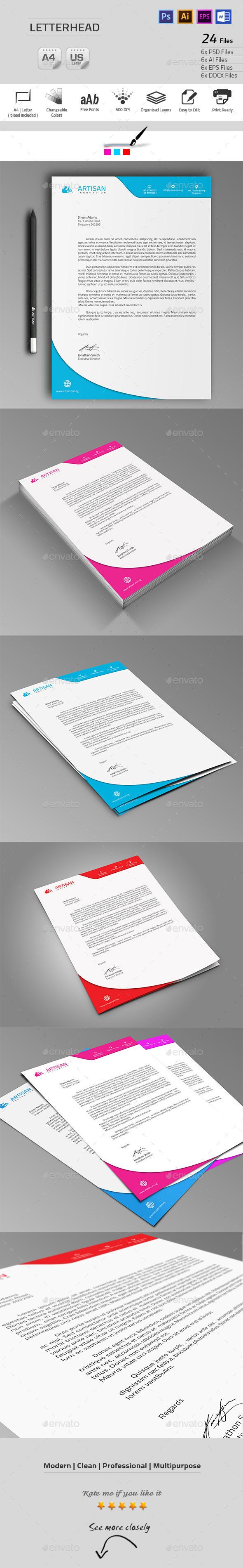GraphicRiver Letterhead 9939435