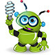 Green Robot and Lamp - GraphicRiver Item for Sale