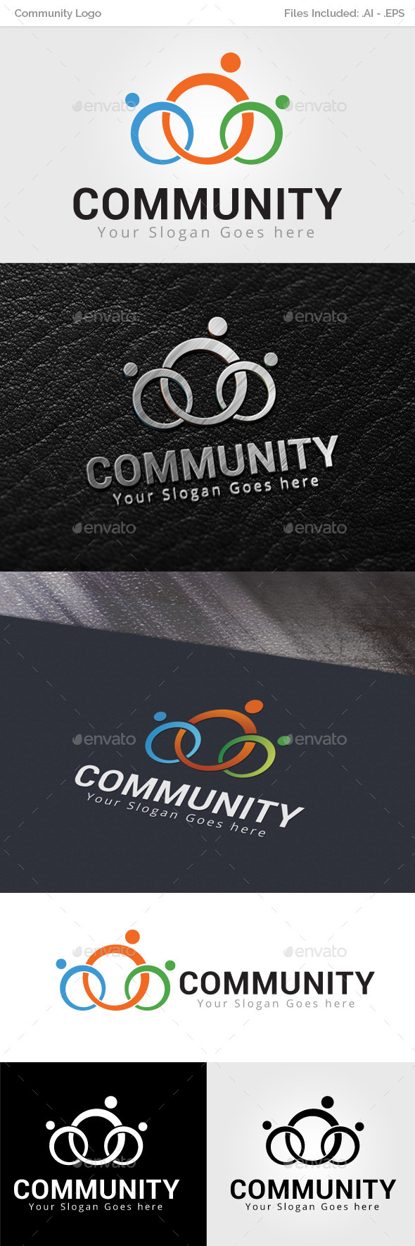 GraphicRiver Community Logo Template 9954476