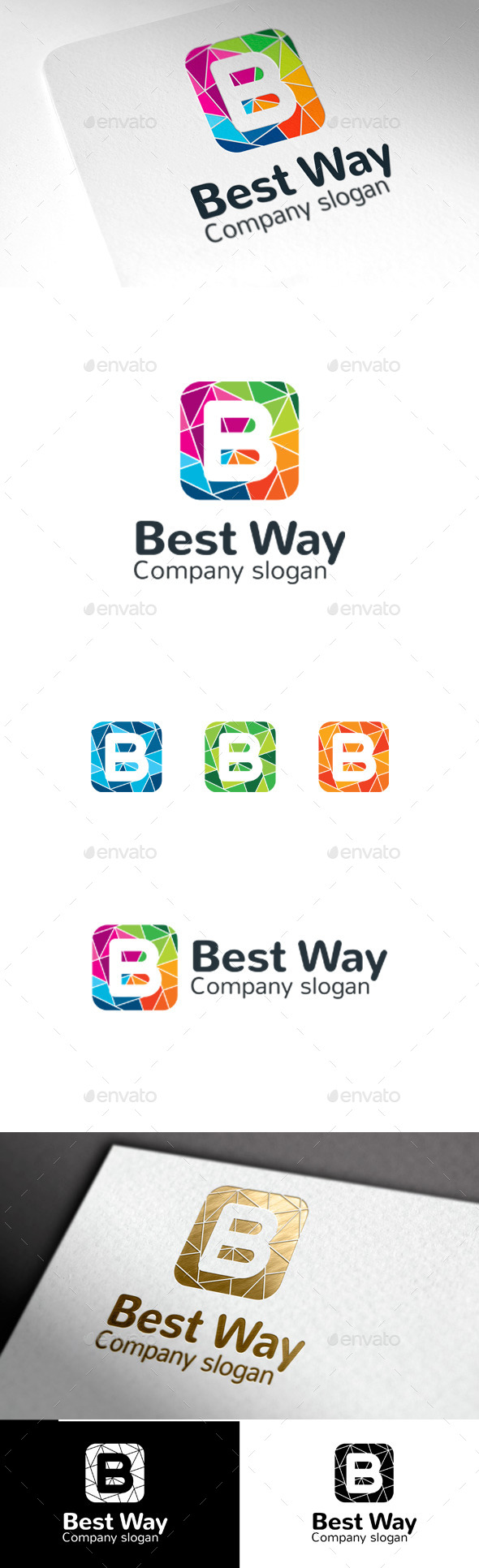 GraphicRiver Best Way B Letter 9954546