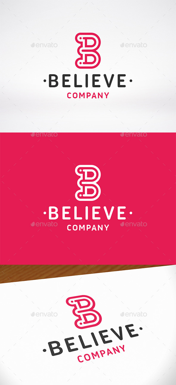 GraphicRiver Believe Letter B Logo Template 9954603