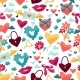 Pattern with Valentine's and Wedding Icons. - GraphicRiver Item for Sale