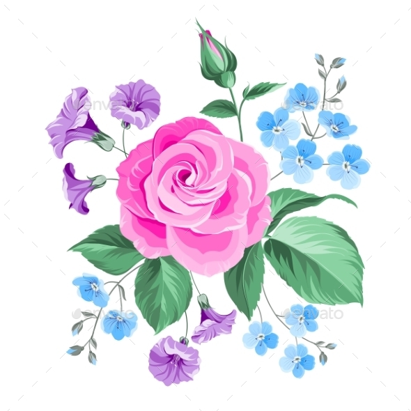 GraphicRiver Hand Drawn Rose 9954862