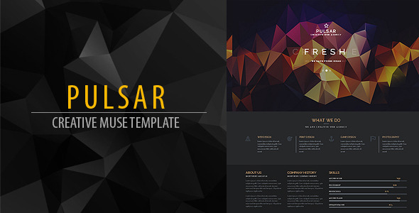 ThemeForest Pulsar Creative Muse Web Template 9954897