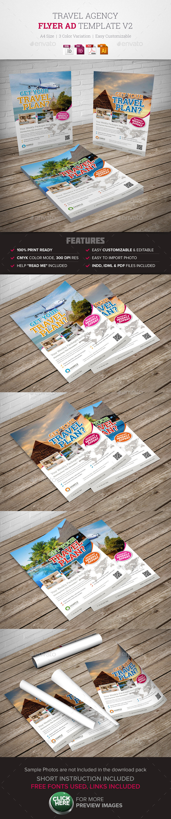 GraphicRiver Travel Agency Flyer Ad v2 9954936