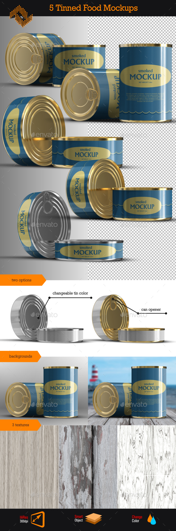 GraphicRiver Canned  Tinned Food Mockups 9954981