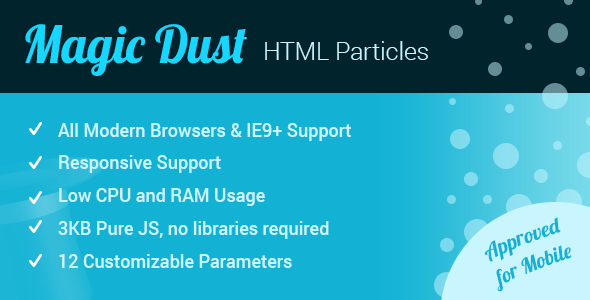 Magic Dust HTML Particles