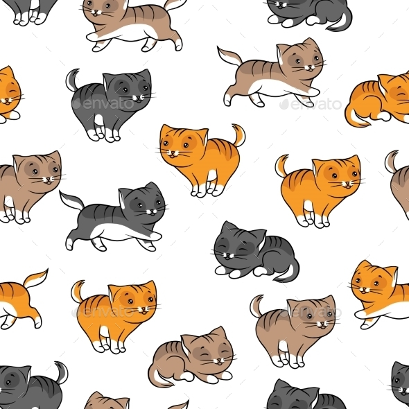 GraphicRiver Cats Pattern 9955108
