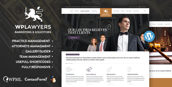 Law Practice Lawyers Attorneys Business Theme