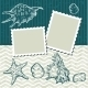 Background with Old Postcards and Seashells. - GraphicRiver Item for Sale