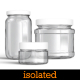 10 Isolated Clear Glass Jars - GraphicRiver Item for Sale