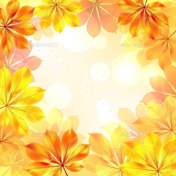 GraphicRiver Autumn Background with Yellow Leaves 9955309