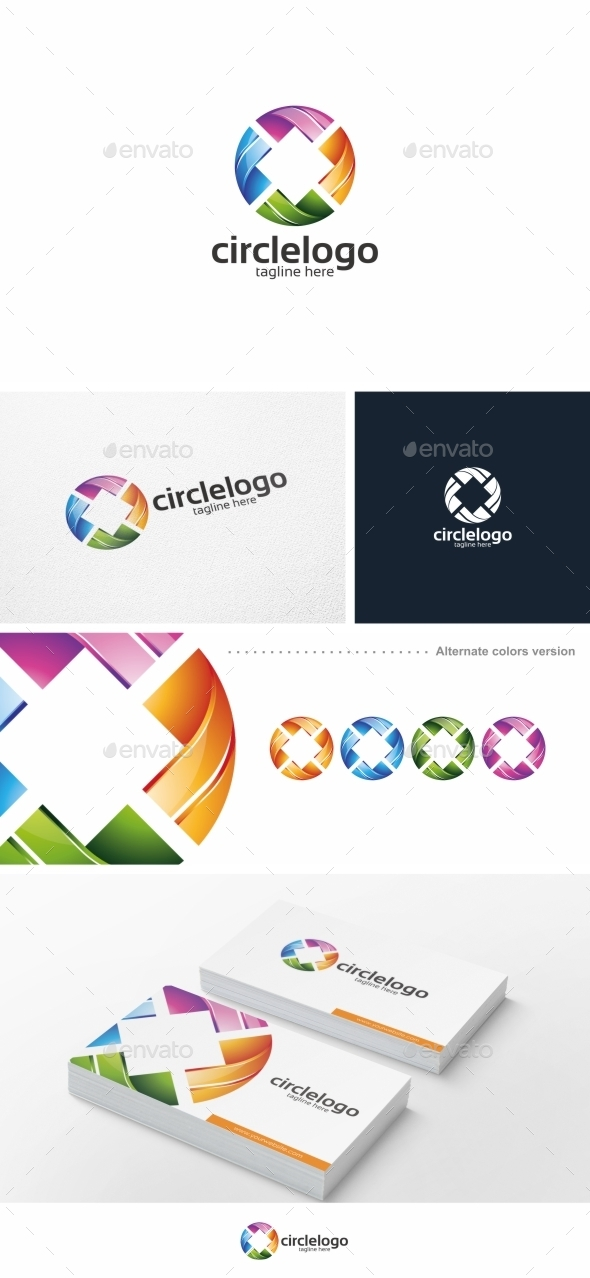 GraphicRiver Colorful Circle Logo Template 9955391