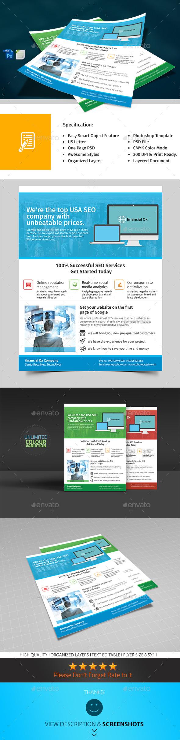GraphicRiver SEO Marketing Flyer 9949861