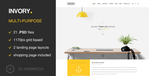 ThemeForest Invory Multi Purpose PSD Template 9955870