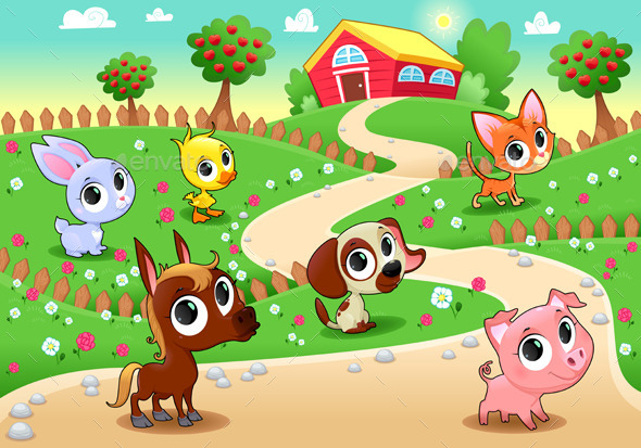 GraphicRiver Farm Animals 9956048