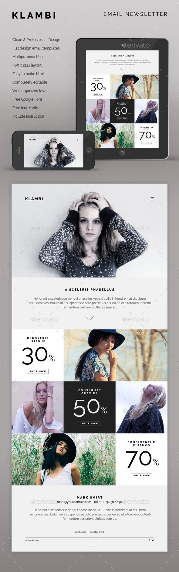 GraphicRiver Klambi Email Newsletter II 9956057