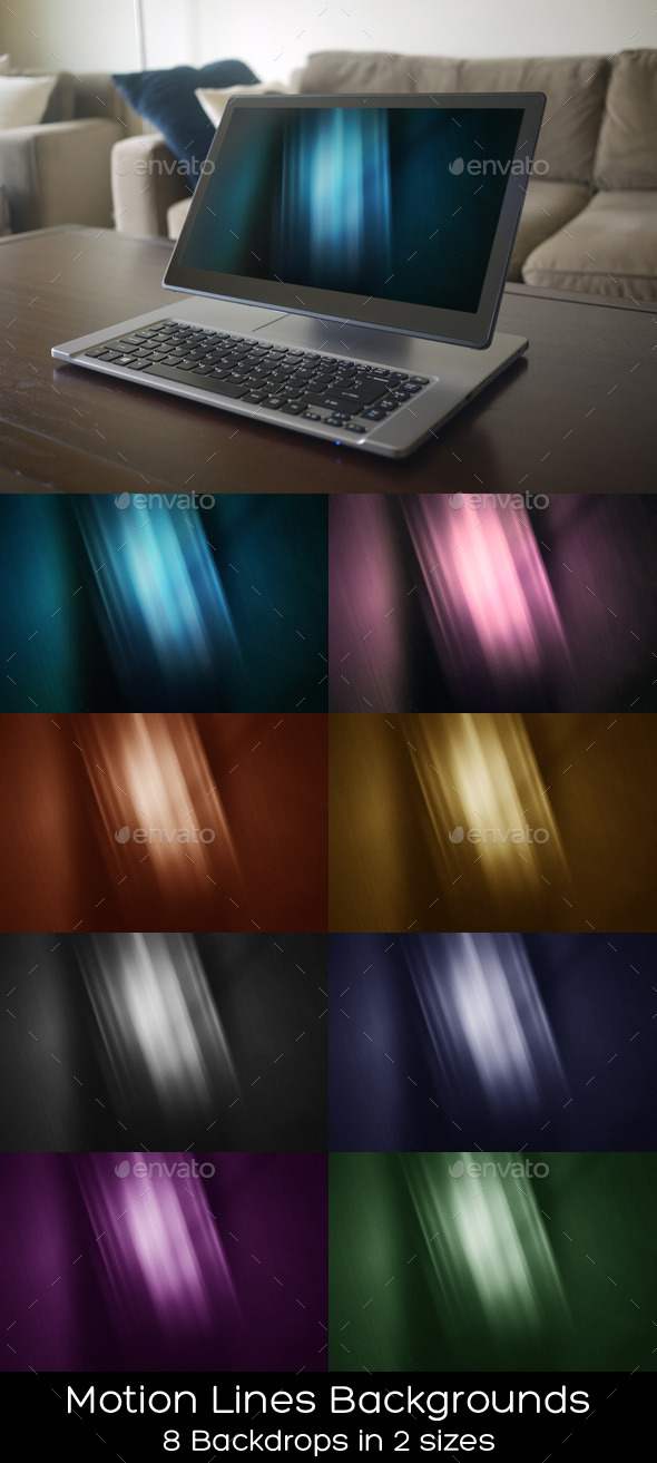 GraphicRiver Motion Lines Backgrounds 9956102