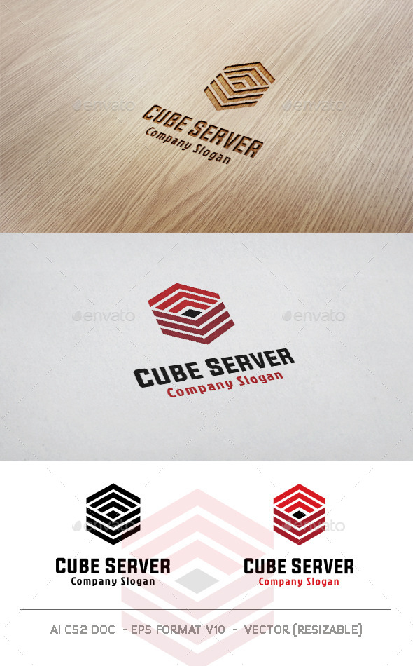 GraphicRiver Cube Server Logo 9956156