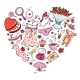 Gift Ideas for Girl in Heart Shape. - GraphicRiver Item for Sale
