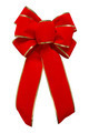 Red Velvet Bow with Gold Trim - PhotoDune Item for Sale