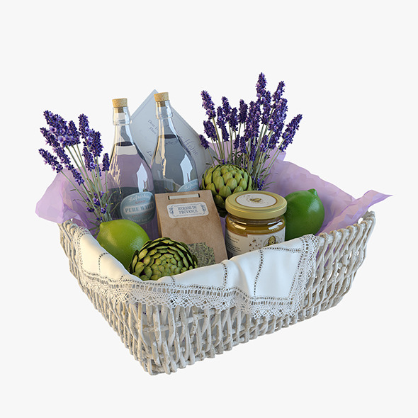 3DOcean Provence decor basket 9956338