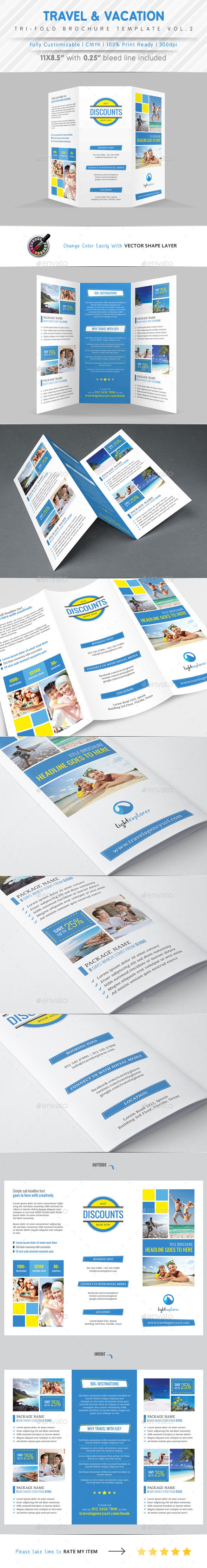 GraphicRiver Travel Agency Tri Fold Brochure Vol.2 9956349