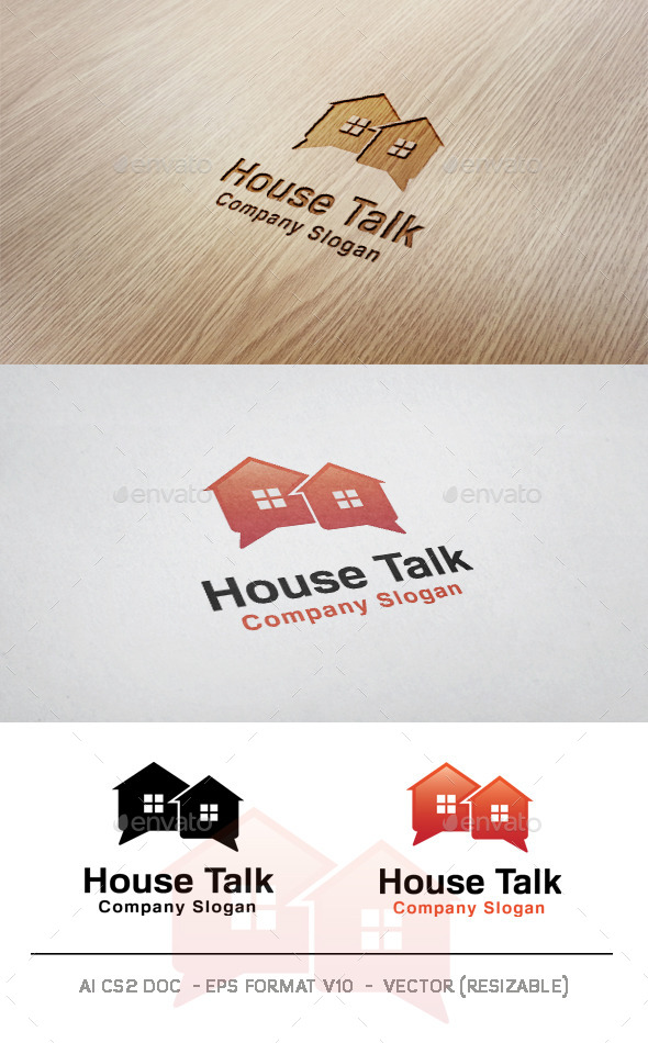 GraphicRiver House Talk Logo 9956380
