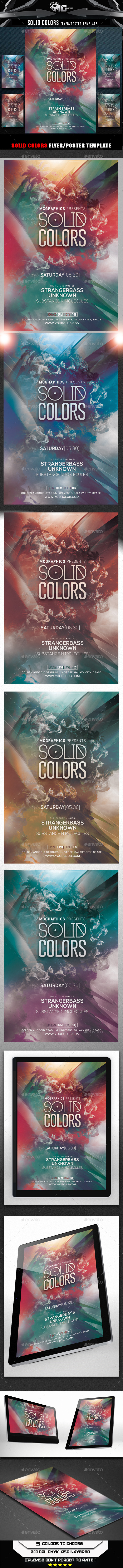 GraphicRiver Solid Colors Flyer Template 9956401