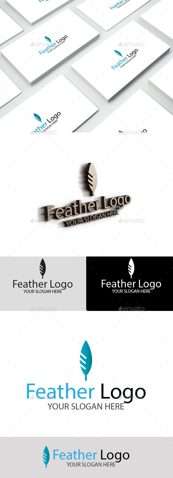 GraphicRiver Feather Logo 9956797
