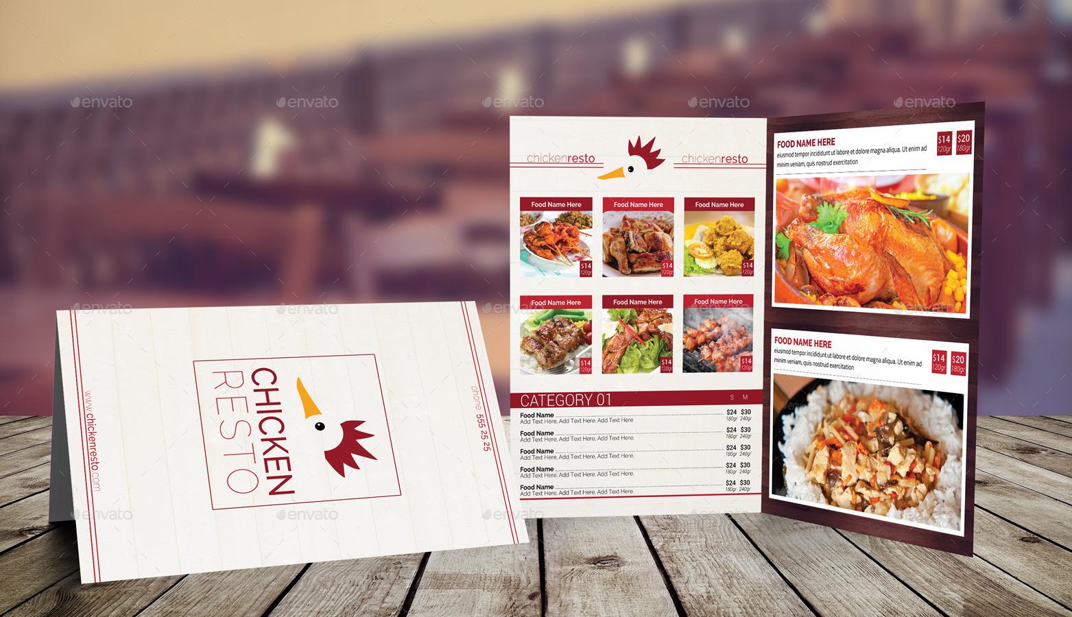 bi fold a4 food menu template 2 by erseldondar