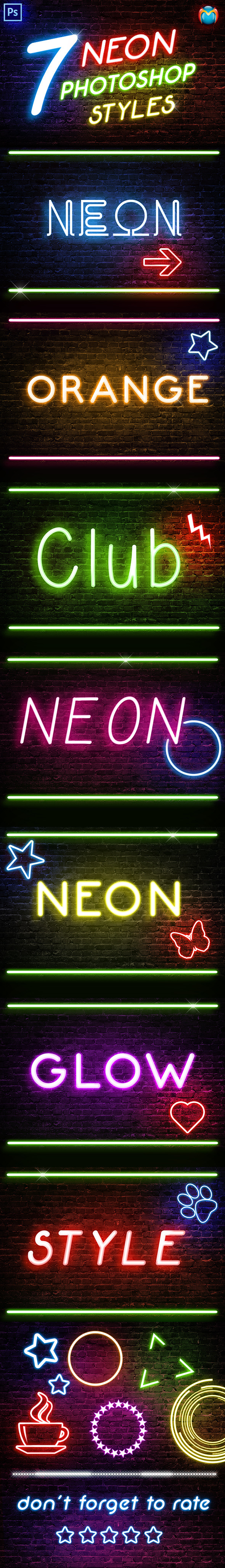 GraphicRiver Neon Photoshop Styles 9956867